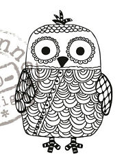 Marianne Design Clear Rubber Stamp DOODLE - OWL EWS2209 Reduced