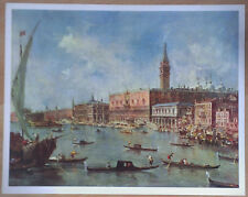 FRANCESCO DE GUARDI - THE DUCAL PALACE VENICE  RARE ART PRINT KUNSTKREIS LUCERNE