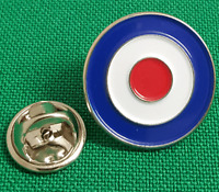 RAF Roundel Enamel & Metal Lapel / Pin Badge - 20mm. Ideal Gift. BRAND NEW