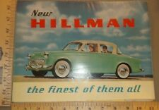 1958 Hillman Sales Folder Brochure US Import