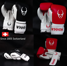 Leather Boxing Gloves mens boy Sparring Gym Training MMA Mitts Workout 10oz-16oz