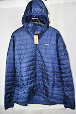 Patagonia NANO PUFF HOODIE Hooded Jacket AUTHENTIC 84222 Navy BLUE Mens M NEW