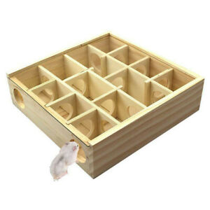 Pet Hamster Animal Play Toys Wooden Maze Tunnel Gerbil Rat Small Mouse Mice B2UK
