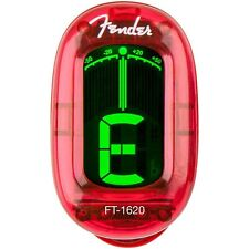 Fender FT-1620 California Series Clip On Tuner in Candy Apple Red +Picks