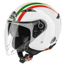 CASCO MOTO JET VISIERINO SOLARE AIROH CITY ONE STYLE GOLD VERDE ROSSO TG XL