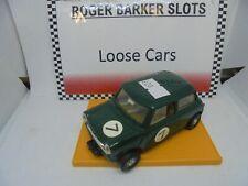 Scalextric C76 FWD Mini Cooper green  exc #7 ( ex set car )