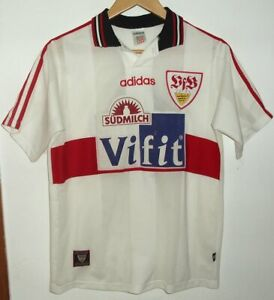 STUTTGART 1996 AUTHENTIC FOOTBALL SHIRT BY ADIDAS SIZE FOR 1.76cm #11