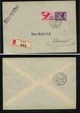 Liechtenstein  C22 C23  on registered cover  1939     KL0722