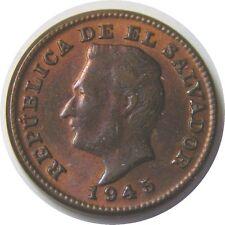 elf El Salvador 1 Centavo 1945 Philadelphia Mint  World War II