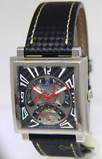 Milus Herios TriRetrograde Steel Carbon Fiber Mens 42mm Watch Box/Card HERT004F