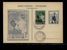 Belgium  nice stamp  post  card   1937         KEL09131