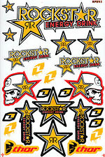 Metal Mulisha Rockstar Energy Racing Sticker Motorcycle MTB BMX QUAD BIKE Decal