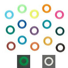20 Round 7mm Rubber Ring Spacer Rondelle Disc Beads with Big 3mm Hole