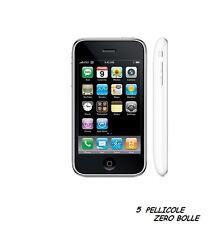 5 Pellicola OPACA per Apple IPHONE 3G 3S Protettiva Pellicole MATT ANTIMPRONTA