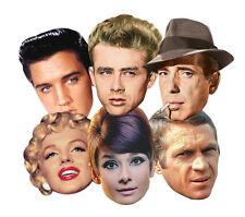 Audrey Hepburn Steve McQueen Humphrey Bogart Marilyn Monroe Dean Elvis Mask Pack