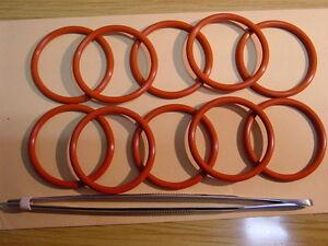 10 x O-Ring  passend für Solis Master Pro,Ultra ,Schaerer, Opal,+Fett