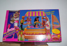 MATTEL ROLLER BLADE BARBIE & SNACK & SURF DELUXE SET NIB #7142 1992 ARCO RETIRED