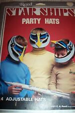 STAR SHIPS PARTY HATS C A REED 1977 PACKAGE OF 4