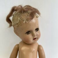 Small Vintage Antique Doll Composition Creepy Halloween Prop Repair Damaged