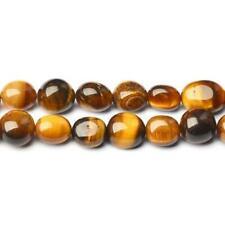 Pcs Handcut DIY Jewellery Tiger Eye Smooth Nugget Beads 8-12mm Yellow//Brown 35