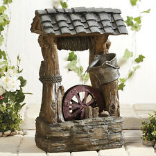 Wishing Well Water Feature Garden Ornament Large 69cm Tall NEW by Serenity