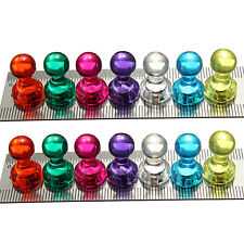 14x Strong Neodymium Noticeboard Skittle Men Pin Magnets Fridge Diy Whiteboard``