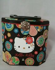 Hello Kitty Collectable Decor Metal/Tin Lunch Box By Sanrio Smiles Made In Japan