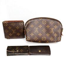 LOUIS VUITTON Key Case Makeup Bag Wallet Used Auth Set of 4 (FA-100