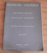 Couperin - Les Goûts Réunis ou Nouveaux concerts Vol 1 - Partition occasion