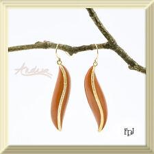 FPJ 14K Yellow Gold 41.50ctw Genuine Reddish Brown Jaspers Earrings