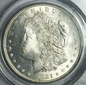1921 Morgan Dollar, PCGS MS65, Frosty Obverse, Lightly Toned Reverse, Nice!