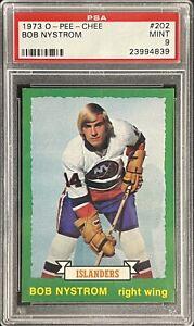1973 1974 OPC Bob Nystrom PSA 9 RC ROOKIE #202 Islanders Bobby O-Pee-Chee