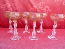 6 belle,antique Verres à vin__Cristal Poli__Vert clair__Poli_