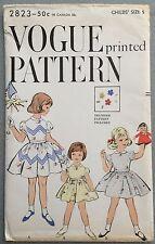 Vintage 50s Sewing Pattern Dress Slip Petticoat Transfer V2823 FF Uncut 5