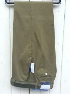 Gurteen Mens Olive green coloured stretch Chino trousers  -  BNWT - MANY SIZES