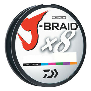 Daiwa J Braid x8 Braided Line 30lb 300M Filler Spool Multicolor JB8U30-300MU