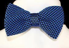 Blue Black Knit Mens Bow Tie Adjustable Tuxedo Wedding Prom Fashion Bowtie New