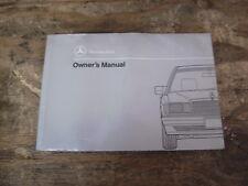 1991 Mercedes 190e 2.3 2.6 Owner's Manual