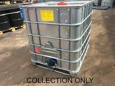 More details for ibc tanks 1000l(galvanised bottom plate-steel case) read description- solvent