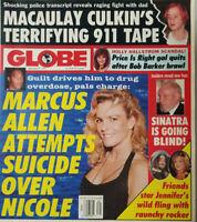 Globe Tabloid Sept 26 1995 Marcus Allen Suicide Attempt Nicole Simpson - Culkin