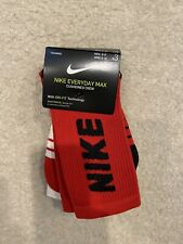 Nike 3 Pack Everyday Max Training Crew Socks Dri Fit SX7836 910 Men's Size 6-8