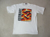 VINTAGE Germany Shirt Adult Large White Black Soccer Futbol Football Mens 90s *