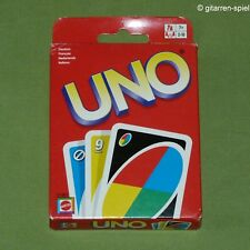 UNO Kartenspiel ab 7 J. von Mattel ©2002 Komplett Karten wie neu Rar 1A Top!
