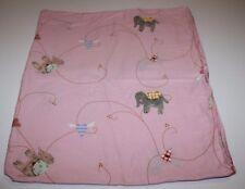 "IKEA Duvet Quilt Cover Elephant FABLER HJARTA PINK Hearts Baby Toddler Crib 46"""