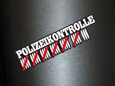 1 x Aufkleber Polizeikontrolle Strichliste Tuning Sticker Autoaufkleber Cops Fun