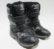 Airwalk Womens 7 Black Pink Fur Trim Lined Insulated Winter Snow Boots