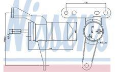 NISSENS Filtro deshidratante, aire acondicionado RENAULT KANGOO THALIA 95471
