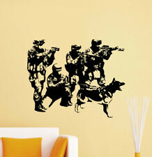 Special Forces Wall Decal K-9 Dog Police Squad Vinyl Sticker Decor Poster 736