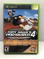 Tony Hawk's Pro Skater 4 (Microsoft Xbox, 2003) Complete w/ Manual - Tested