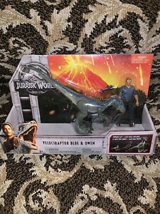 Jurassic World Velociraptor & Owen Action Figure Dinosaur Pack NIB